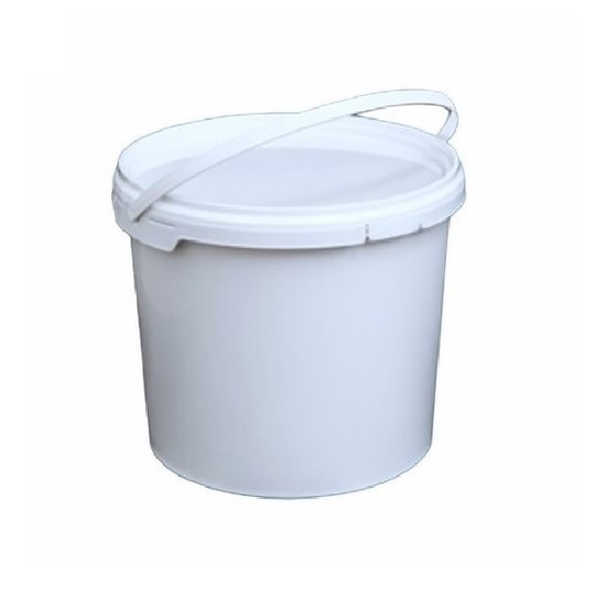 Emmertjes wit 5,5 liter met lekdichte TE deksel