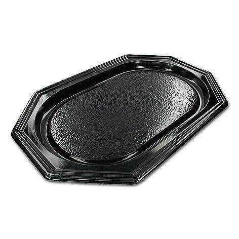 Catering schalen 8-hoekig zwart 45cm