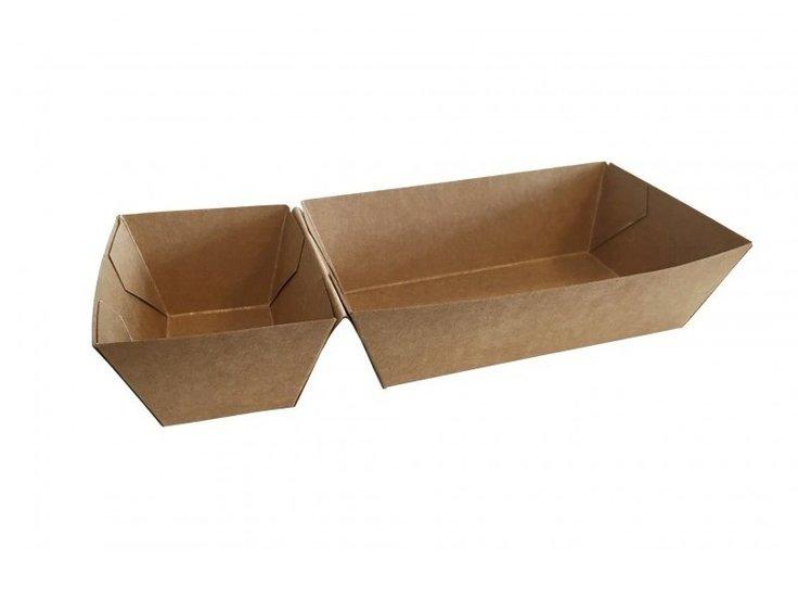 Patatbakjes karton groot met sausvak A22 (A9+1)