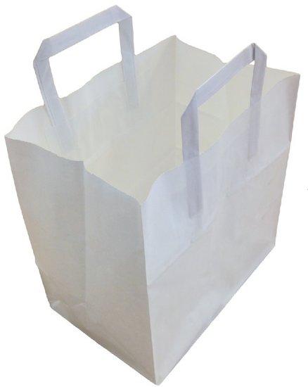 Papieren tassen wit kraft 26x17x25cm