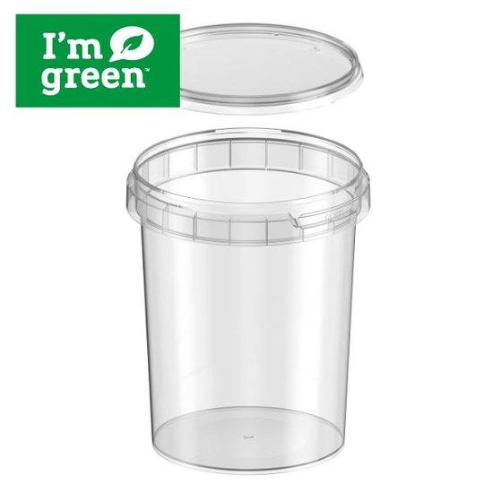 Plastic bakjes rond bio 520ml met verzegelbare deksel