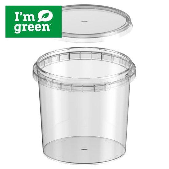 Plastic bakjes rond bio 740ml met verzegelbare deksel