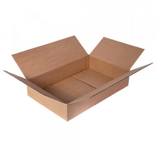 Platte kartonnen dozen bruin 455x265x95mm