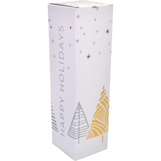 Wijndoos kerst Stars Deluxe 95x95x330mm