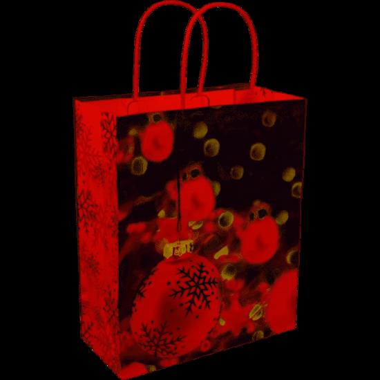 Papieren kersttasjes Red  35x13x31cm