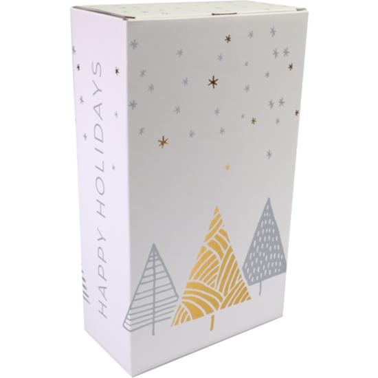 Wijndoos kerst Stars Deluxe voor 2 flessen 190x95x330mm