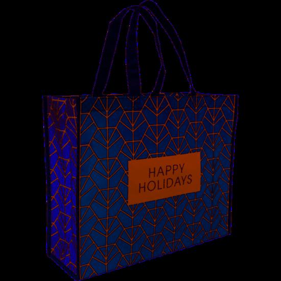 Kerst shopper draagtas Holidays 45x15x36cm 10 stuks