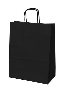 Draagtasjes deluxe zwart 24x12x31cm