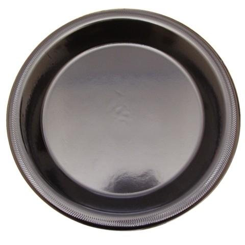 Plastic borden disposable 22cm zwart