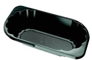 Bakjes voor slaatje zwart KU1