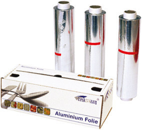 Aluminiumfolie rol in dispenserdoos 30cm