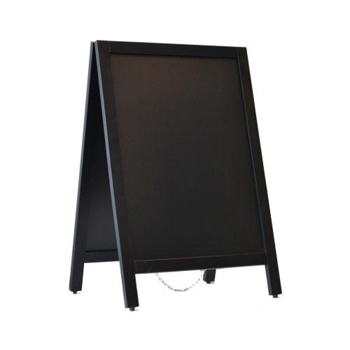 Krijtstoepbord 55x85cm zwart