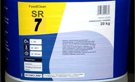 Foodclean SR7 schuimreinigingsmiddel slagerij en bakkerij