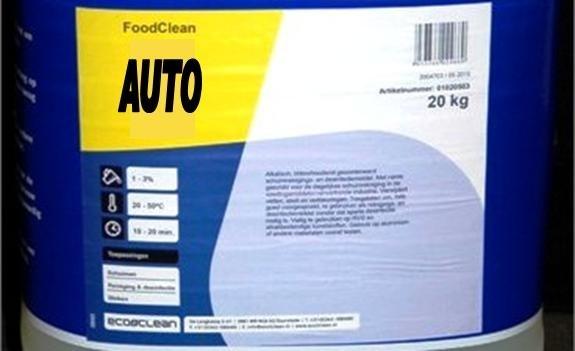 Foodclean reinigingsmiddel auto voedingsbranche