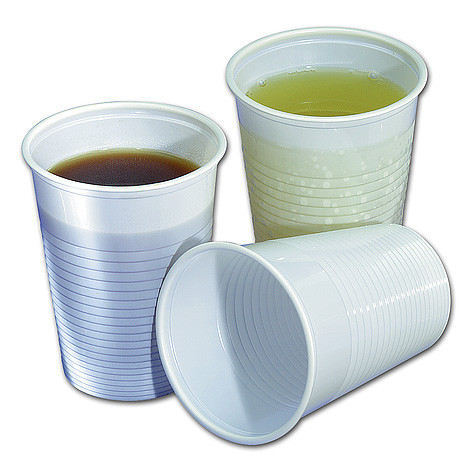 Plastic drinkbekers wit