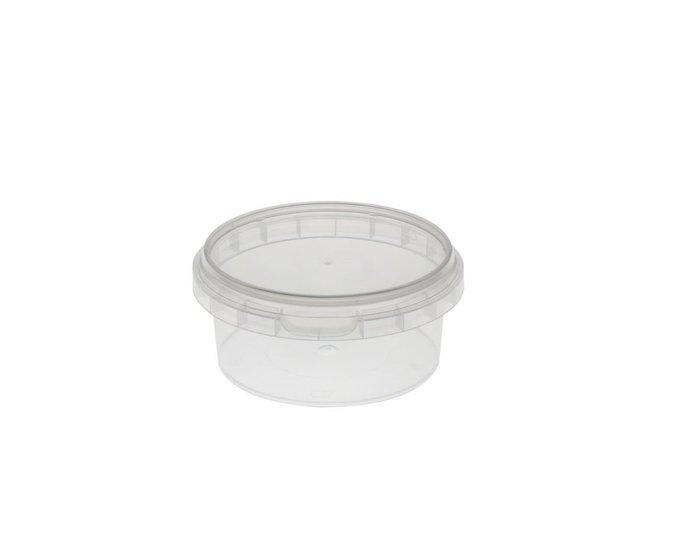 Ronde bakjes 180ml met anti-lek deksel