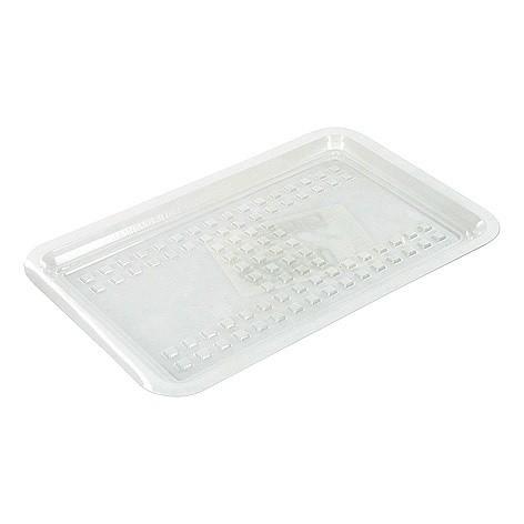 Vleeswarenschaaltjes plastic wit 125x180mm