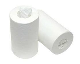 Handdoekrollen papier mini wit pallet