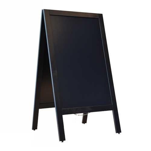 Krijtstoepbord 75x135cm zwart