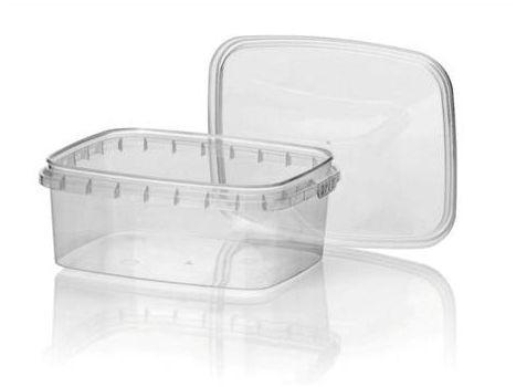 Plastic bakjes 250ml, spuitgiet met deksel