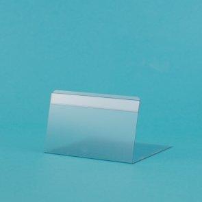 Prijskaarthouders transparant 5x10cm