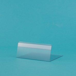 Prijskaarthouders transparant 3x10cm