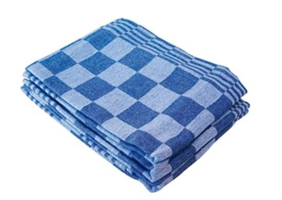 Theedoeken blauw-wit geblokt 65x65cm