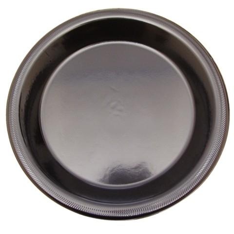 Luxe wegwerp borden 22cm zwart