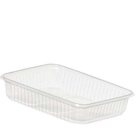 Plastic bakjes 500ml rechthoekig transparant