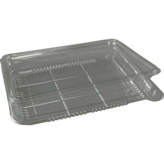 Vleeswarenschaaltjes plastic met klepdeksel 400ml