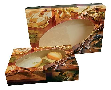 Cateringdozen Bretagne voor 5-vaks borden 28x28x6cm