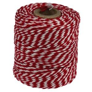 Rolladetouw rood wit dunne klos ACTIE PARTIJ