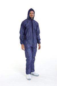 Wegwerp overalls coveralls blauw overdoos