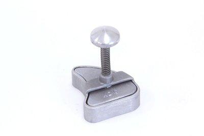 Hamburgerpers karbonade vorm 110x95mm aluminium
