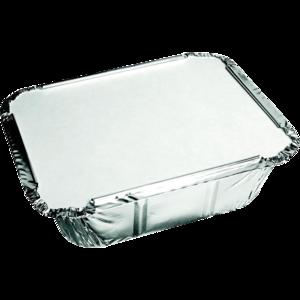 Aluminium bak 140x120x40mm 450ml met deksel